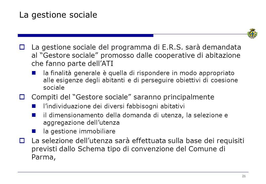 La gestione sociale