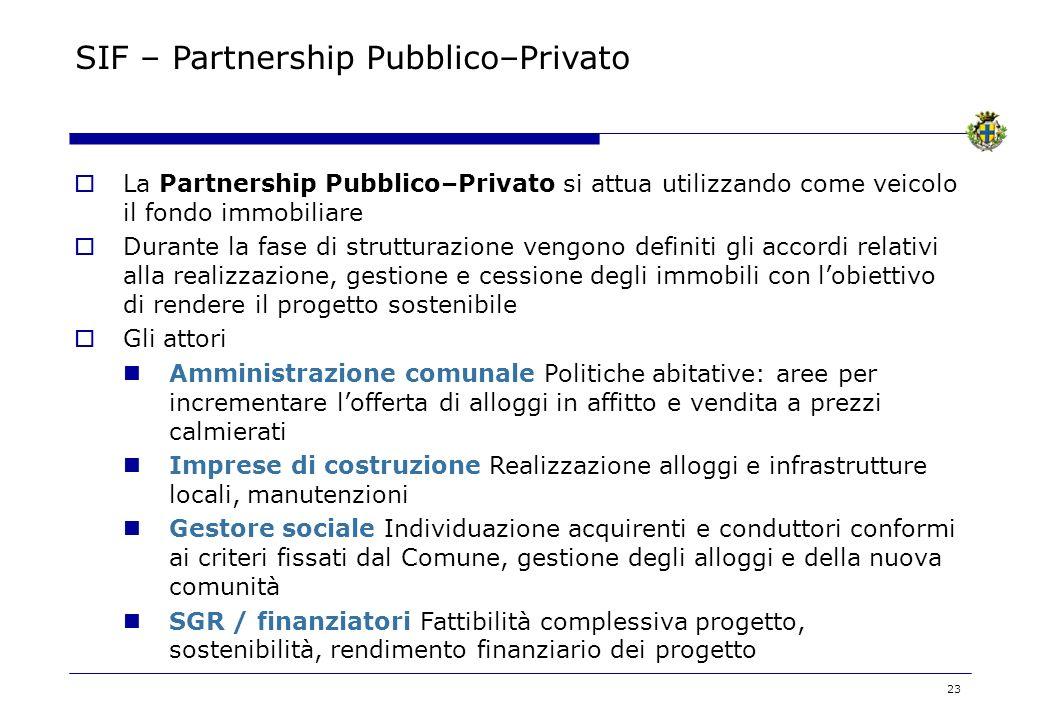 SIF – Partnership Pubblico–Privato