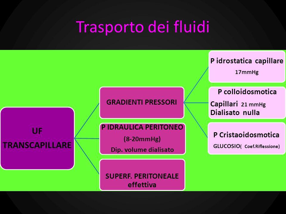 Trasporto dei fluidi UF TRANSCAPILLARE P IDRAULICA PERITONEO