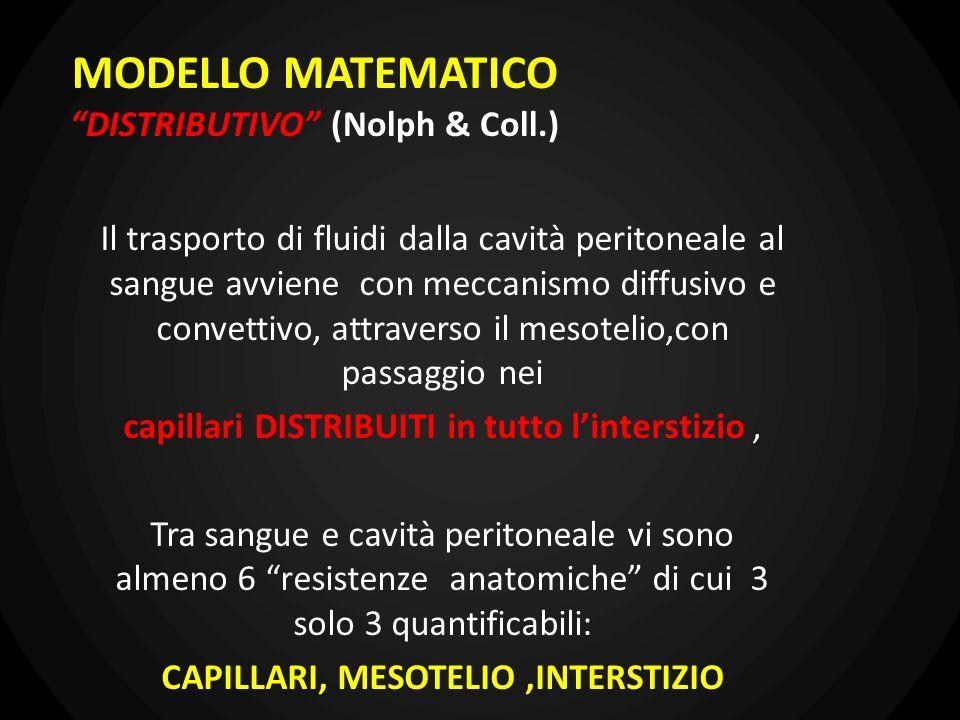 MODELLO MATEMATICO DISTRIBUTIVO (Nolph & Coll.)