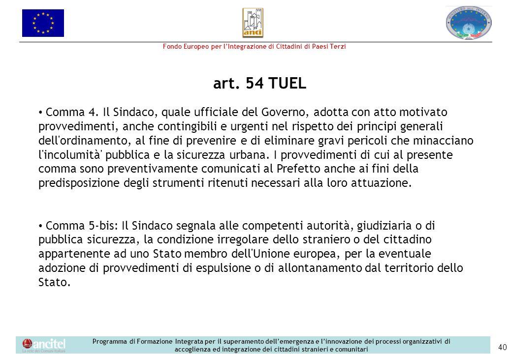 art. 54 TUEL