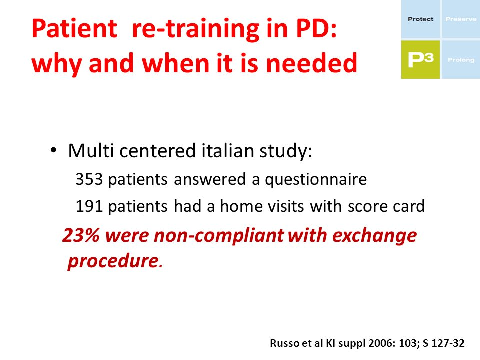 Patient re-training in PD: why and when it is needed