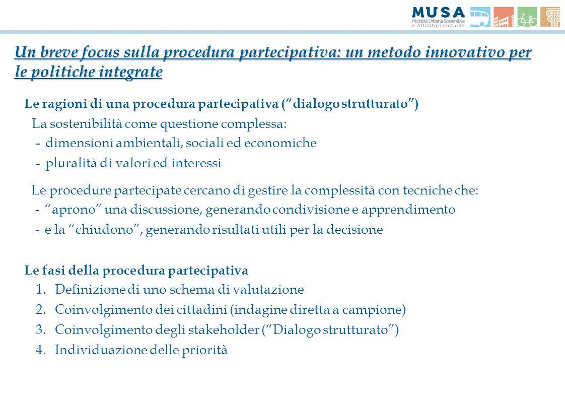 Un breve focus sulla procedura partecipativa: un metodo innovativo per le politiche integrate