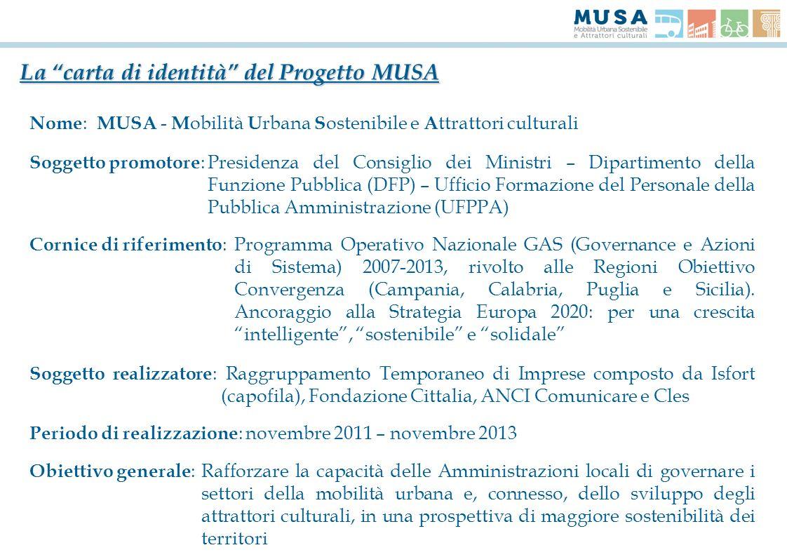 La carta di identità del Progetto MUSA