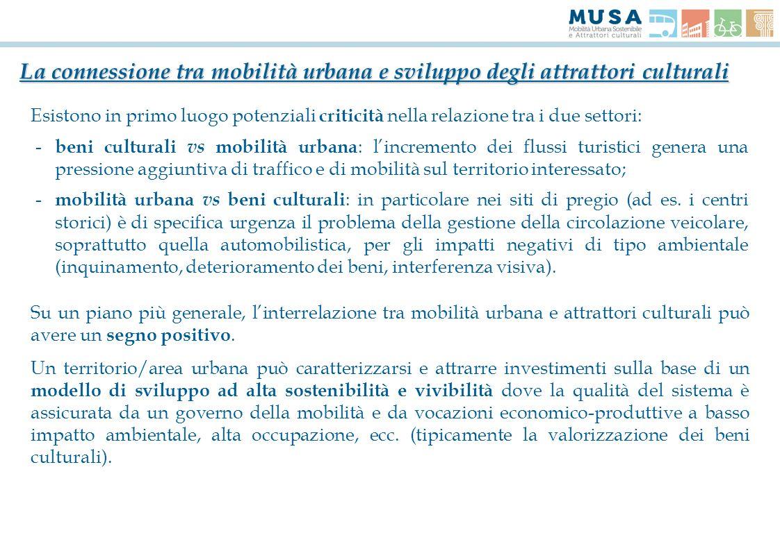 La connessione tra mobilità urbana e sviluppo degli attrattori culturali
