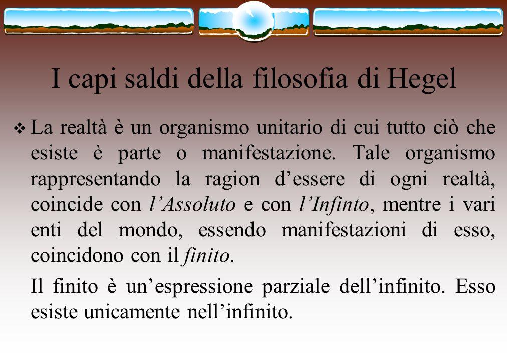 I capi saldi della filosofia di Hegel
