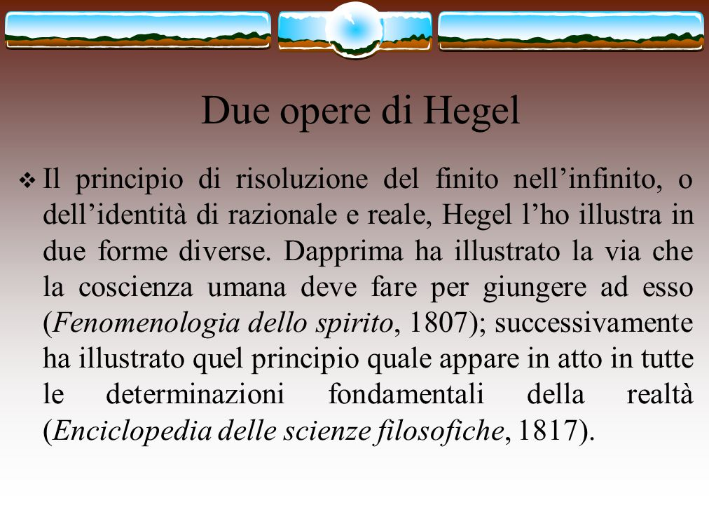 Due opere di Hegel