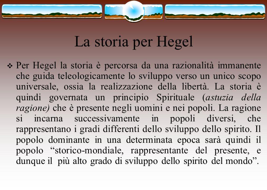 La storia per Hegel