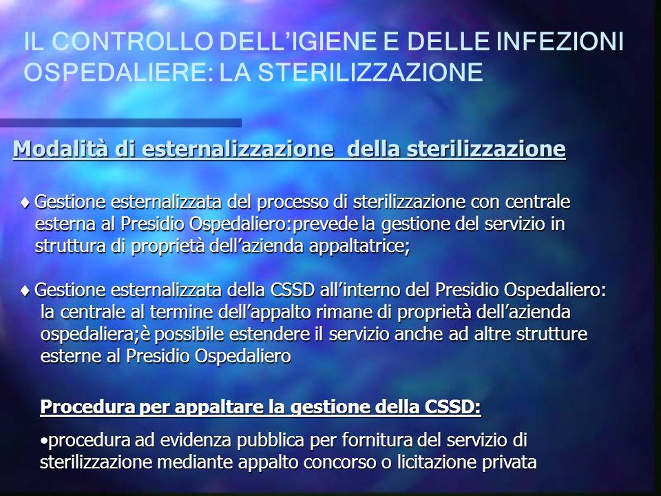 IL CONTROLLO DELL'IGIENE E DELLE INFEZIONI OSPEDALIERE: LA STERILIZZAZIONE
