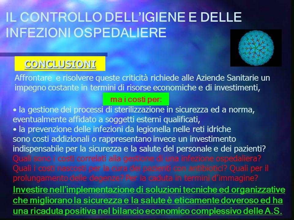 IL CONTROLLO DELL'IGIENE E DELLE INFEZIONI OSPEDALIERE