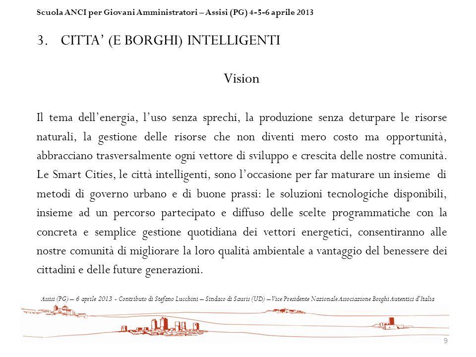 CITTA' (E BORGHI) INTELLIGENTI Vision