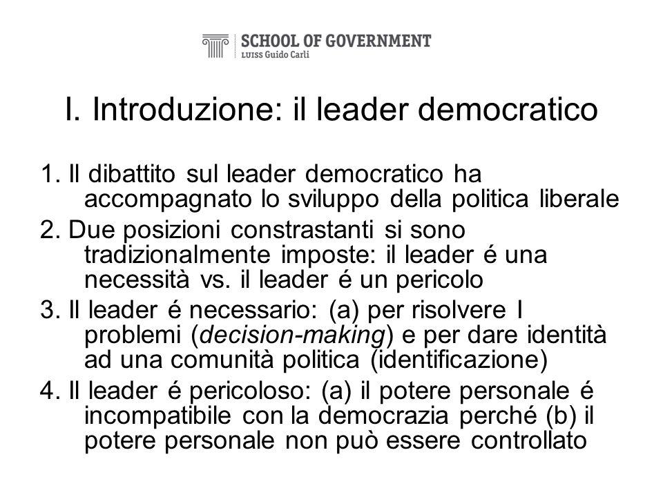 I. Introduzione: il leader democratico
