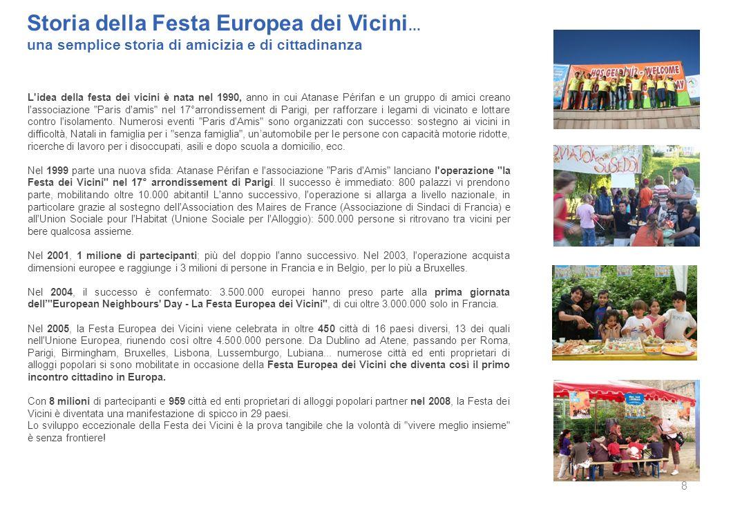 Allegati Storia della festa europea dei vicini