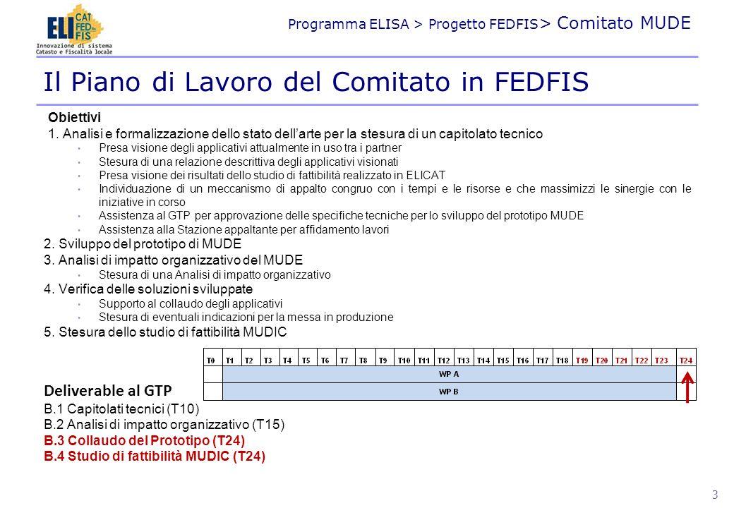 Il Piano di Lavoro del Comitato in FEDFIS