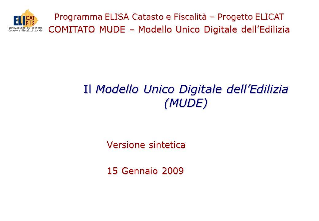 Il Modello Unico Digitale dell'Edilizia (MUDE)
