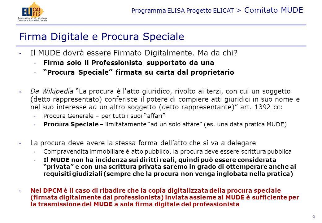 Firma Digitale e Procura Speciale