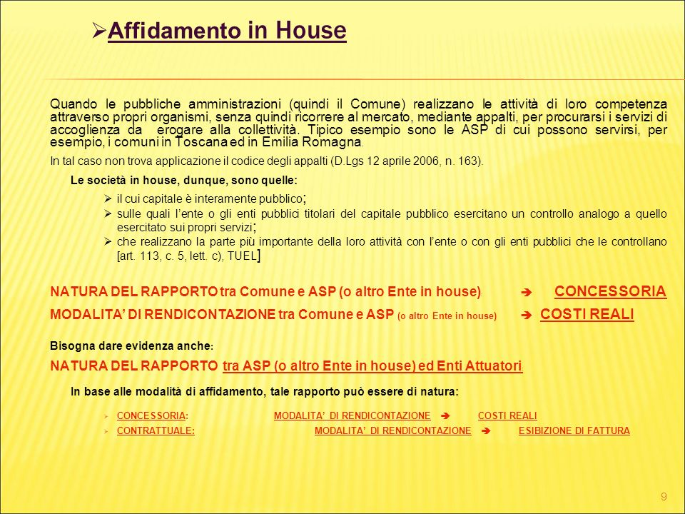 Affidamento in House