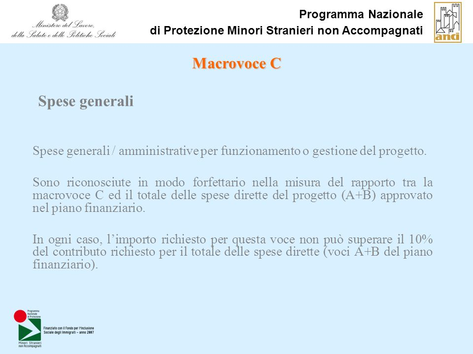 Macrovoce C Spese generali