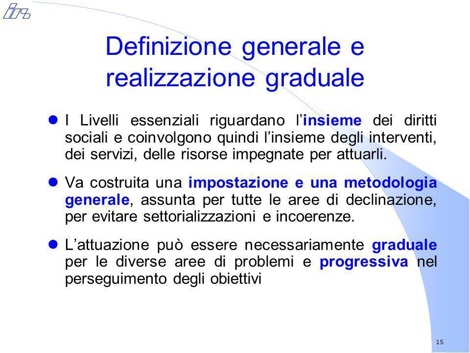 Definizione generale e realizzazione graduale