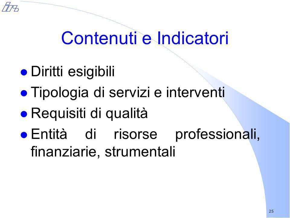Contenuti e Indicatori