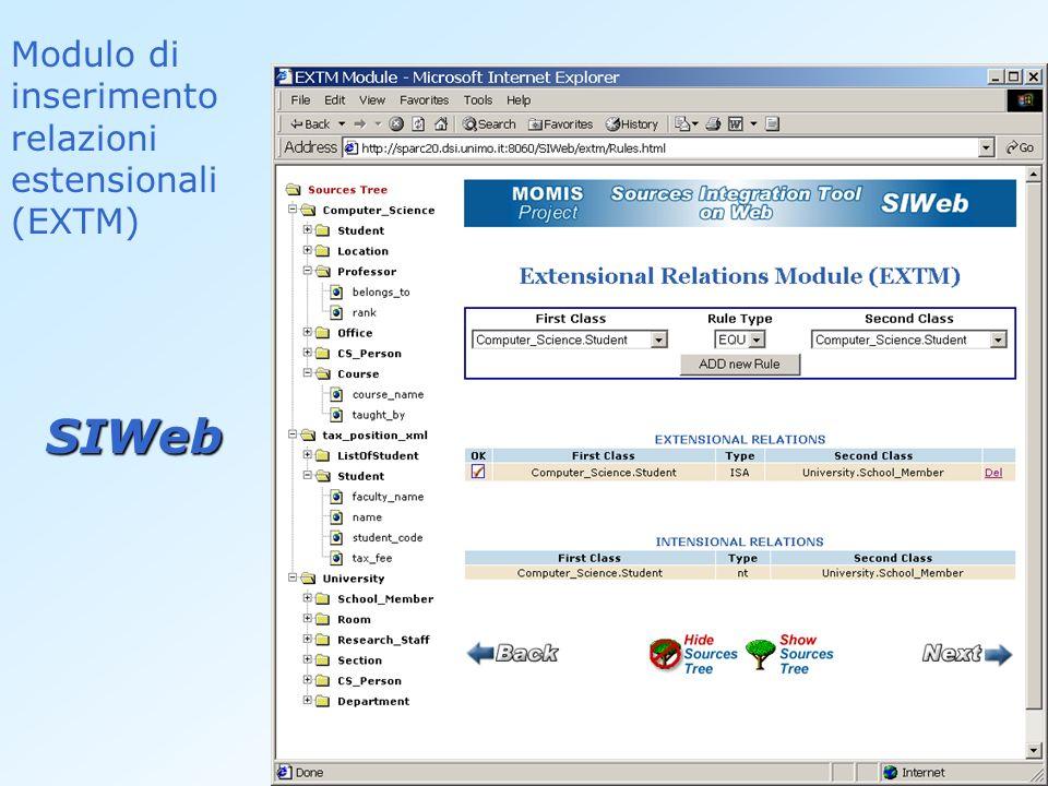Modulo di inserimento relazioni estensionali (EXTM)