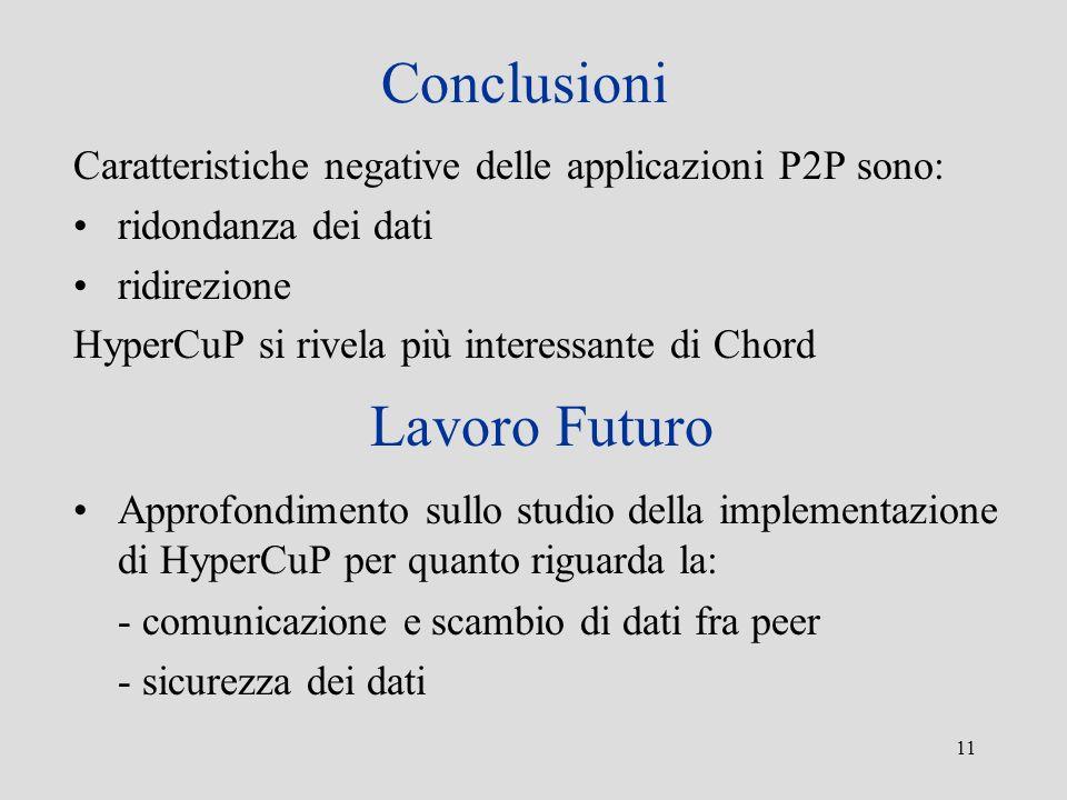 Conclusioni Lavoro Futuro