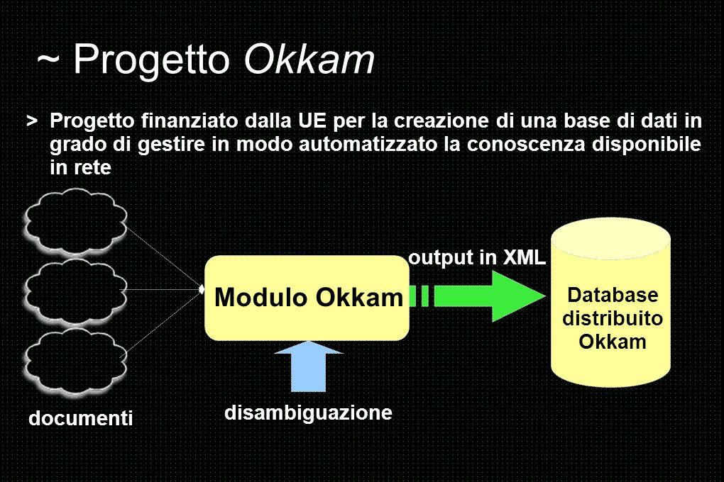 ~ Progetto Okkam Modulo Okkam