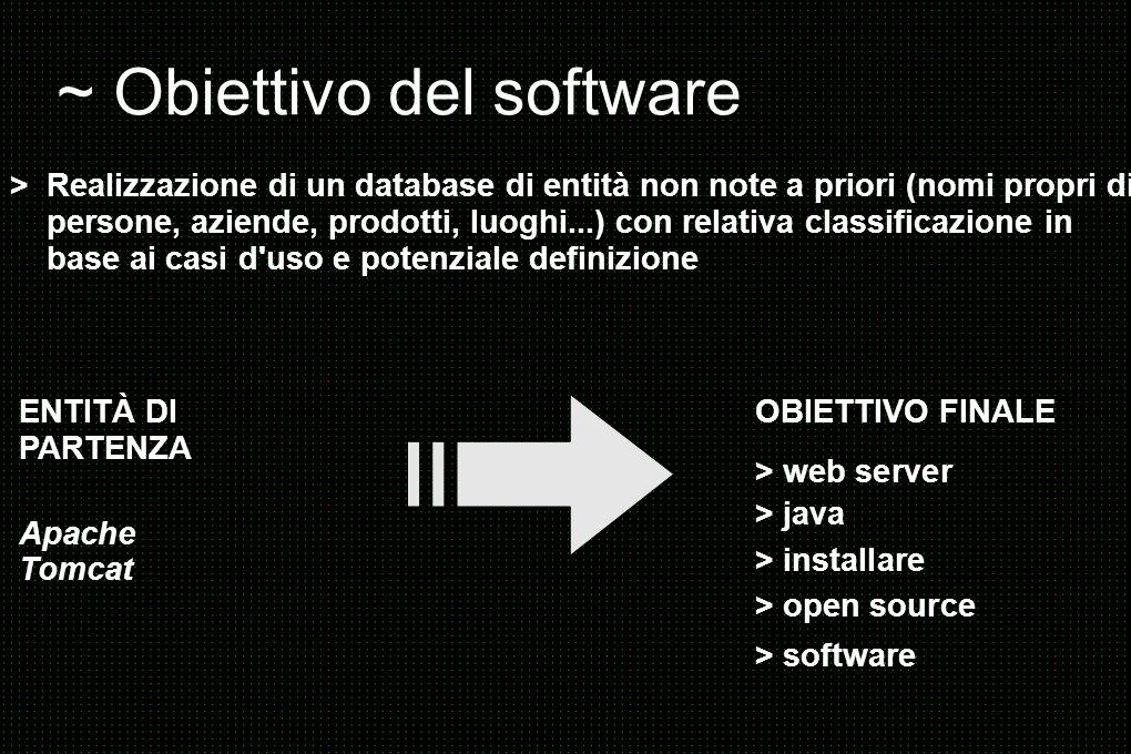 ~ Obiettivo del software