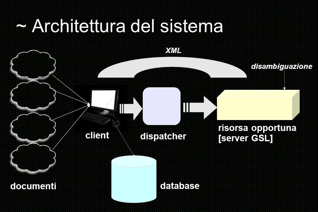 ~ Architettura del sistema