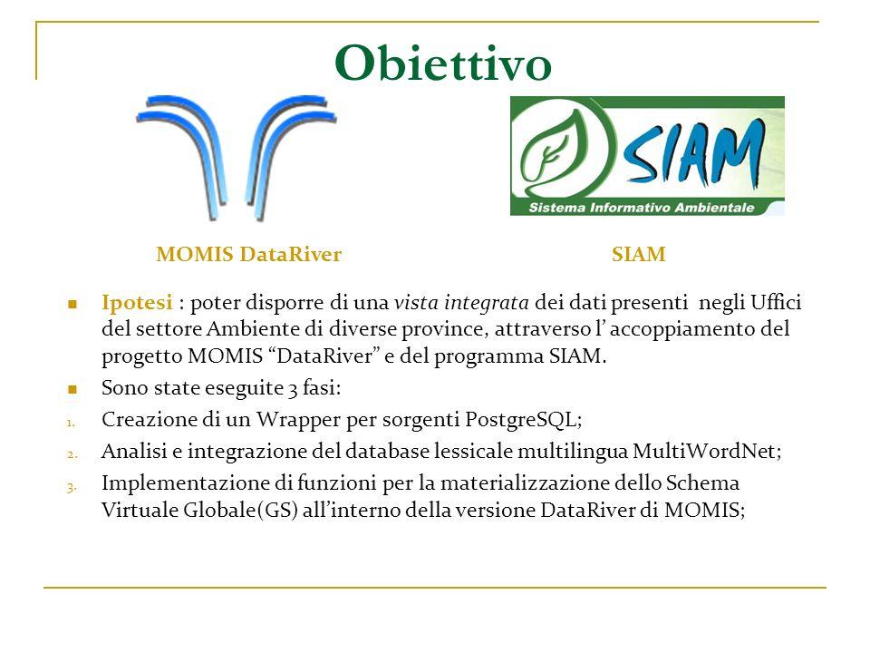 Obiettivo MOMIS DataRiver SIAM