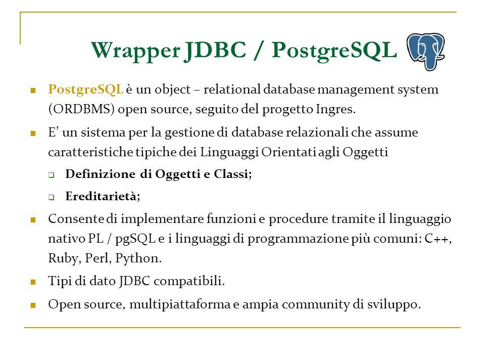 Wrapper JDBC / PostgreSQL