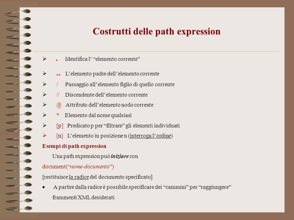 Costrutti delle path expression
