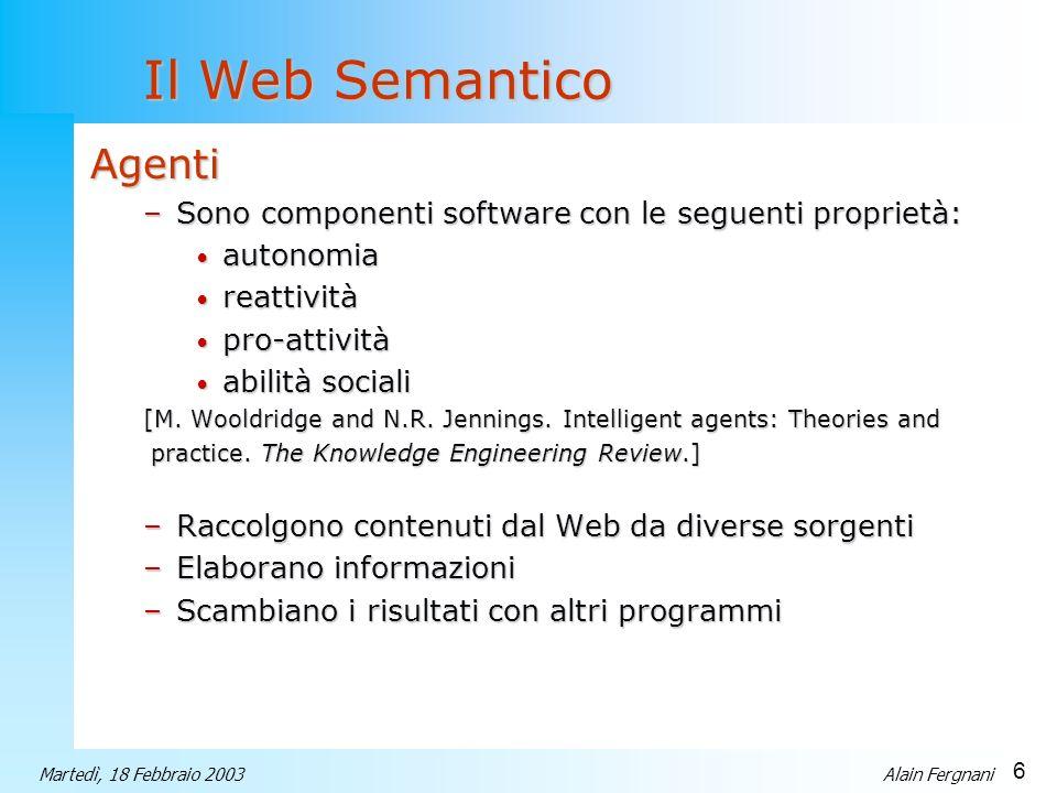 Il Web Semantico Agenti