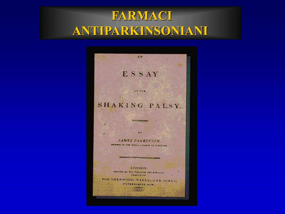 FARMACI ANTIPARKINSONIANI