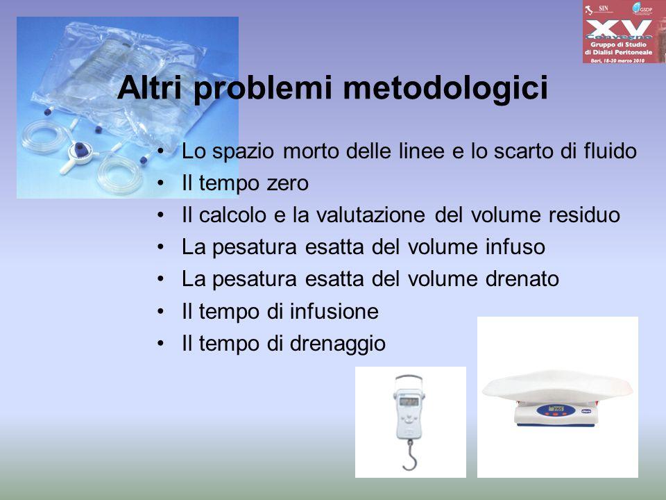 Altri problemi metodologici