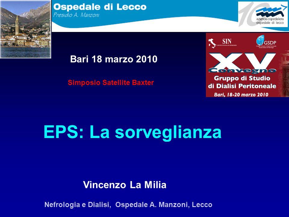 EPS: La sorveglianza Vincenzo La Milia Bari 18 marzo 2010