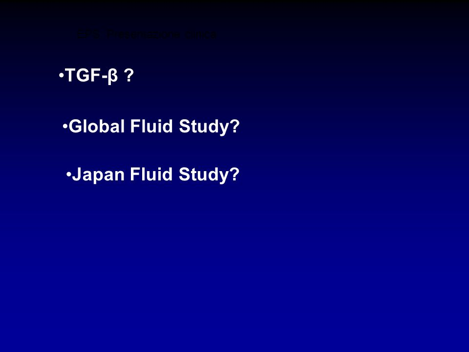 TGF-β Global Fluid Study Japan Fluid Study