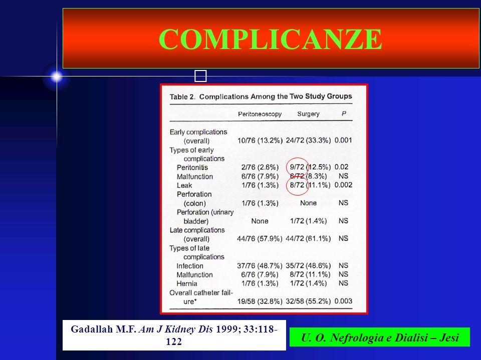 COMPLICANZE U. O. Nefrologia e Dialisi – Jesi