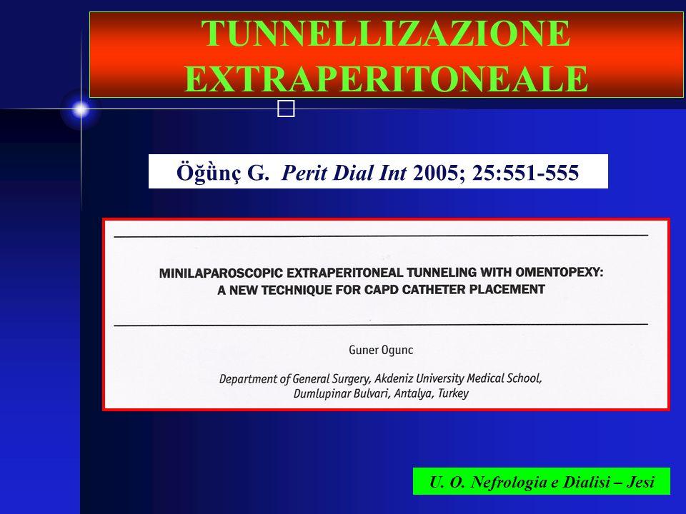 TUNNELLIZAZIONE EXTRAPERITONEALE
