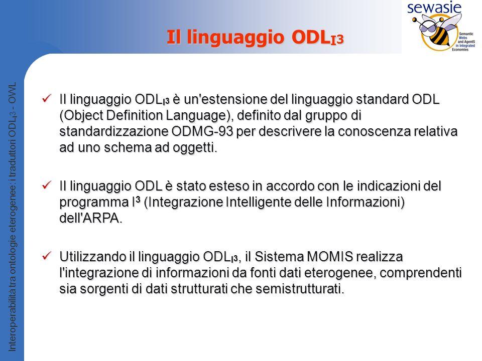 Il linguaggio ODLI3