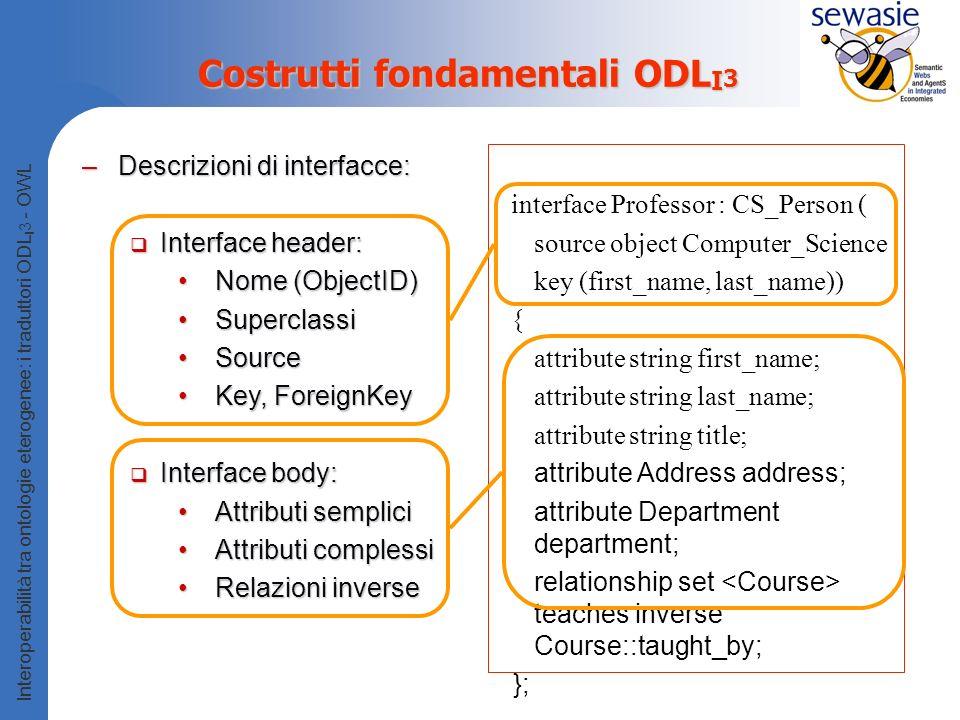 Costrutti fondamentali ODLI3