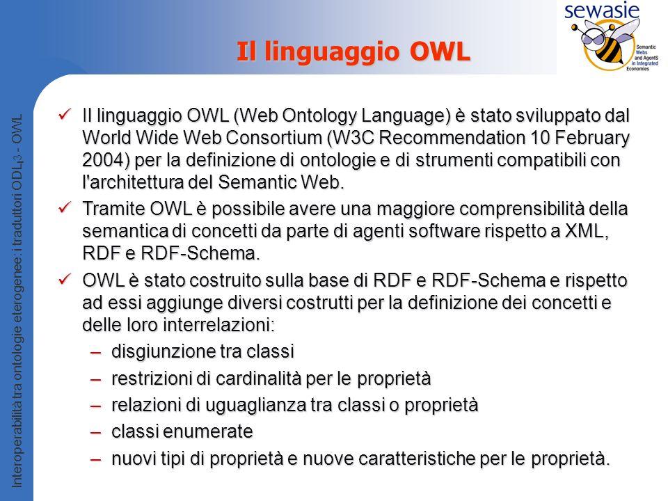 Il linguaggio OWL
