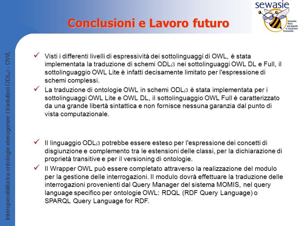 Conclusioni e Lavoro futuro