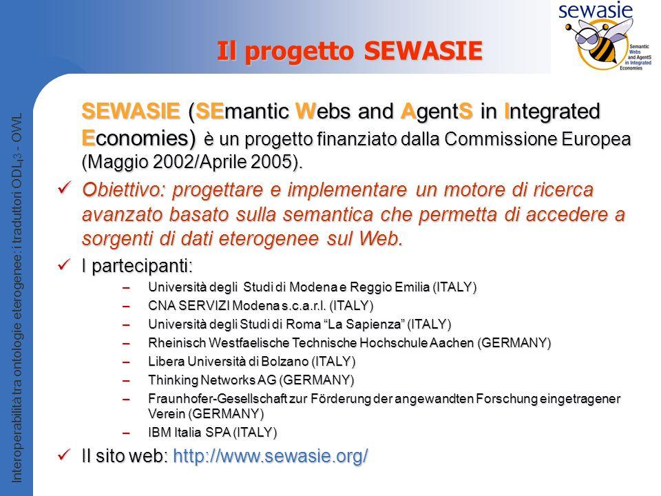 Il progetto SEWASIE