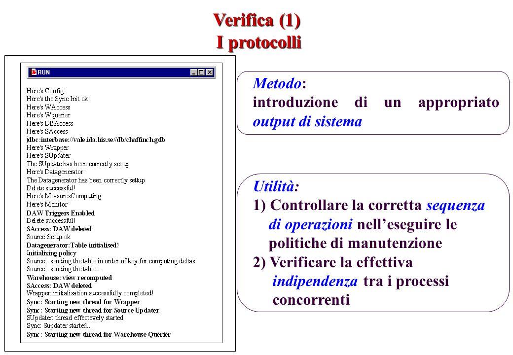 Verifica (1) I protocolli