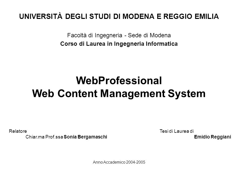 WebProfessional Web Content Management System