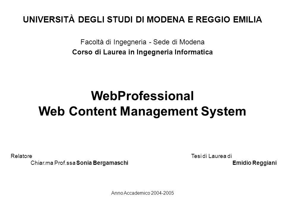 WebProfessional Web Content Management System