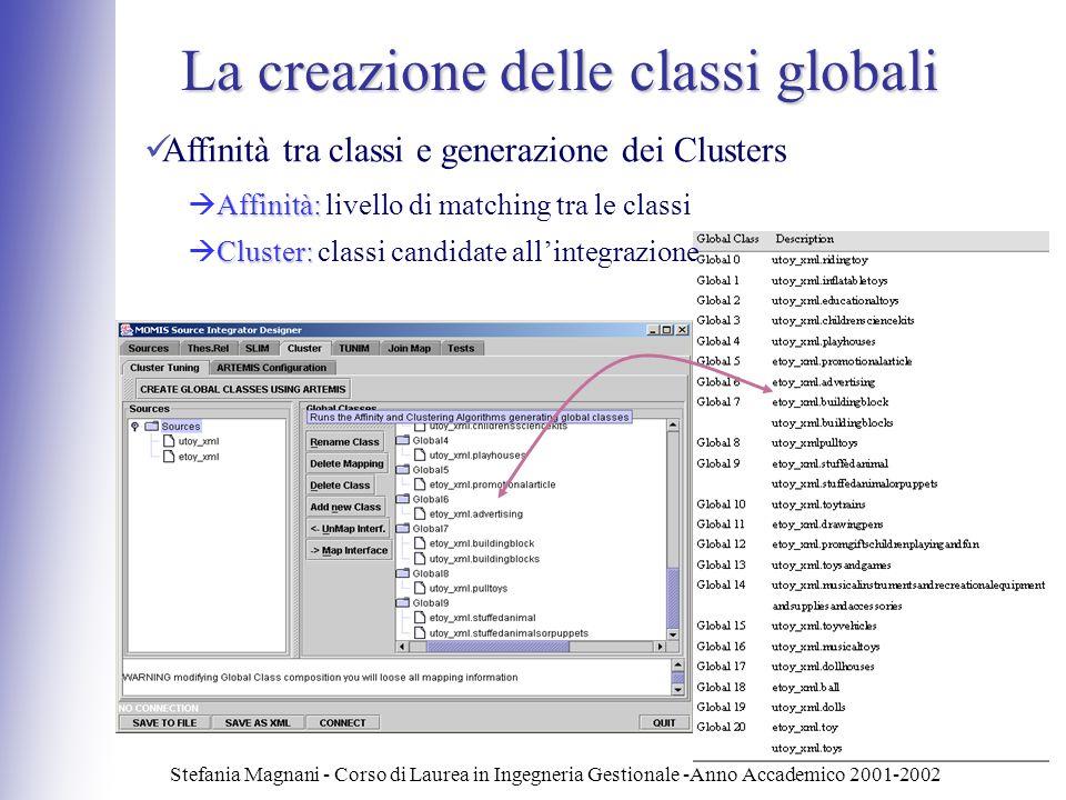 La creazione delle classi globali