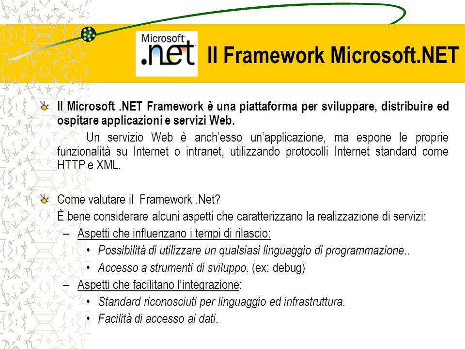 Il Framework Microsoft.NET