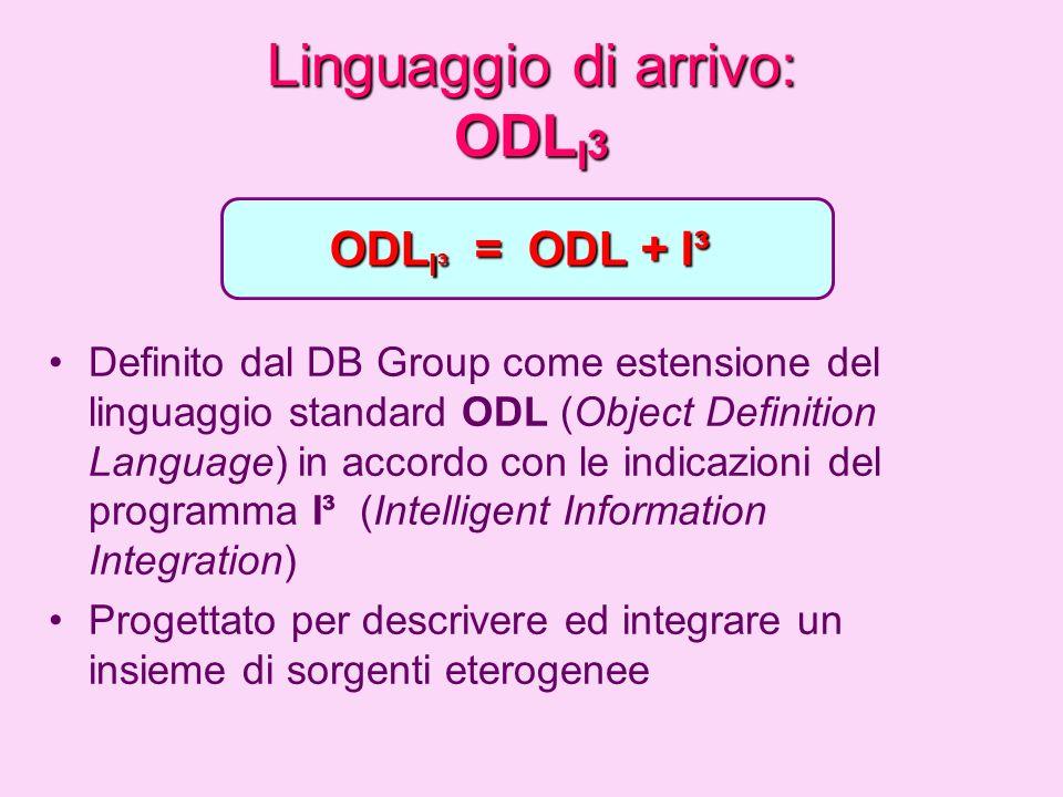 Linguaggio di arrivo: ODLI3